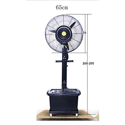 Ventilatoren MEIDUO Kühlen Sprühnebel-Fan-Zerstäubungs-Fan-Fabrik, die atomisierenden Luftbefeuchter 260W/350W/oszillierend/3 Geschwindigkeiten Stäub Schwingung Funktion (Größe : 65cm)