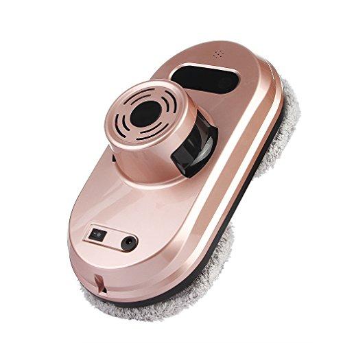 DEMU Robot Nettoyeur de Vitres Robot Vitres Laveur de Vitres Intelligent Lave-Vitre Automatique Électrique Nettoyage Haute-Fenêtre Domotique du Système UPS Anti-chute avec Corde de Sécurité (Doré)