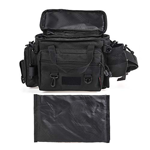 Docooler Lixada Fishing Tackle Backpack Waterproof Tackle Bag Storage Large Capacity Multifunctional Lure Fishing Tackle Pack Fishing Shoulder Bag Waist Bag