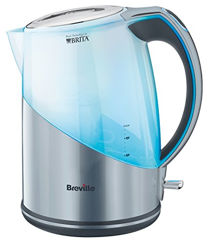 Breville VKJ972 1L water filter kettle bundle (stainless steel) (1 month of Brita Maxtra) (1 cartridge) (3000w)