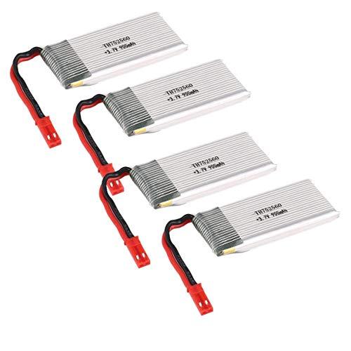 4PCS 3.7V 900mAh Batteria Li-po per 8807/8807W RC Drone Quadcopter Velivolo UAV Accessori Ricambi...