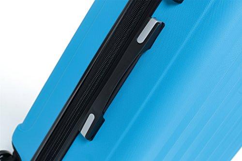 TSA-Schloß 2080 Hangepäck Zwillingsrollen neu Reisekoffer Koffer Trolley Hartschale XL-L-M(Boardcase) in 12 Farben (Türkis, Set) - 4