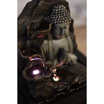 Zen'Light SPIRITUALITE - Fuente de polirresina de Color marrón Oscuro, 21x 21x 26cm. 3