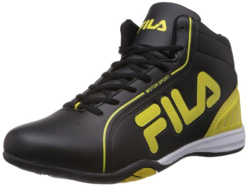 Fila Men Isonzo Black and Pale Yellow Sneakers -7 UK/India (41 EU)