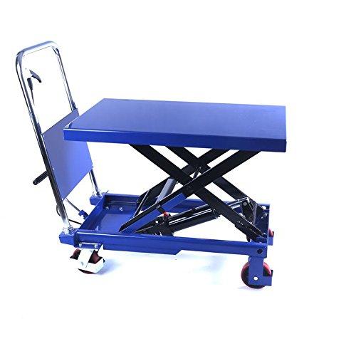 TradeDrive Hydraulischer, fahrbarer Hubtisch 300 kg - mobiler Plattformwagen