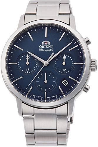Orient Orologio Cronografo Quarzo Uomo con Cinturino in Acciaio Inox RA-KV0301L10B
