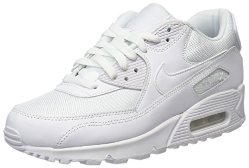Nike Air Max 90 Essential - Zapatillas de running, Hombre, Blanco (White / White-White-White), 43
