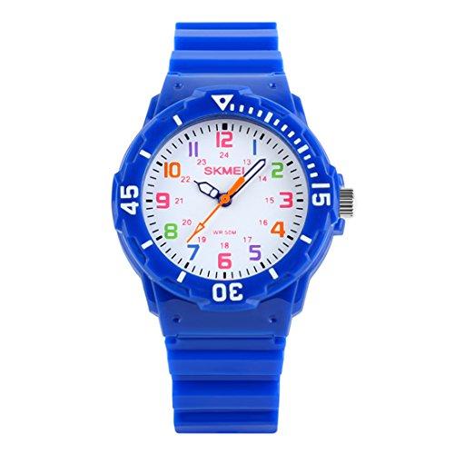 Orologio Multicolore Impermeabile Dell'orologio di Sport Della Vigilanza 50M dei Bambini LED multi Orologio Colorato con il Ricordo Degli Allarmi per la Cinghia Dell'unità di Elaborazione Delle Ragazz