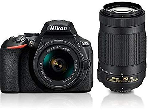 Nikon D5600 with AF-P 18-55 mm + AF-P 70-300 mm VR Kit with Bag and 16GB Memory Card Free