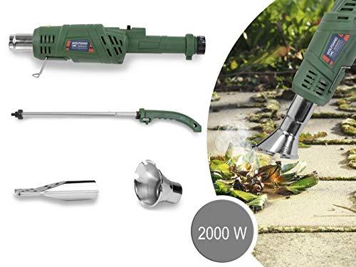WOLFGANG Quita hierbas eléctrico, Quemador herbicida de malezas, Encendedor de barbacoa y chimenea, Desmalezadora 2000 W hasta 600 grados