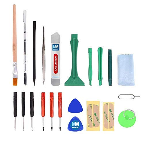 MMOBIEL 22-in-1 Professional Repair Tool Kit with Adhesive Stickers, Opening Tools, PVC Suction Cup, Screwdriver Set for Smartphones, iPad, PSP