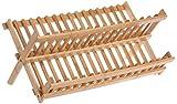 IVHJLP Bamboo Pieghevole Colapiatti scolapiatti Plate Rack con Supporti tasselli