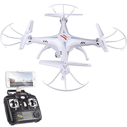 DoDoeleph Syma X5SW 2.4GHz 4CH 6 Axis Gyro Trasmissione In Tempo Reale FPV RC Quadcopter Drone...
