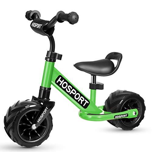 HOSPORT Biciclette Senza Pedali Bilancia da Allenamento per Bambini dai 18 Mesi ai 3,5 Anni (Verde)