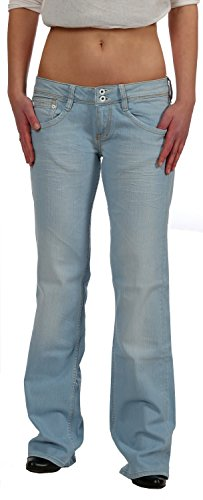 Kuyichi Damen Bootcut Jeans - Hüftjeans Amy Summer Blue - Fair Trade,...