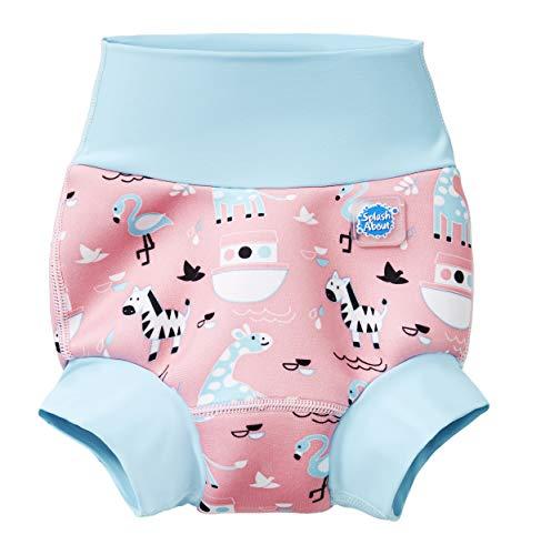 Splash About New Improved Happy Nappy, Pannolino da Nuoto Riutilizzabile Unisex-Baby, Arca di Nina, 3-6 Mesi