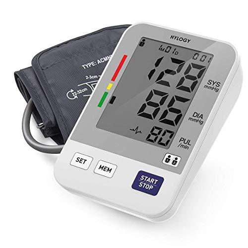 Misuratore Pressione, HYLOGY Misuratore di Pressione da Braccio Digitale, Misurazione Automatica e...