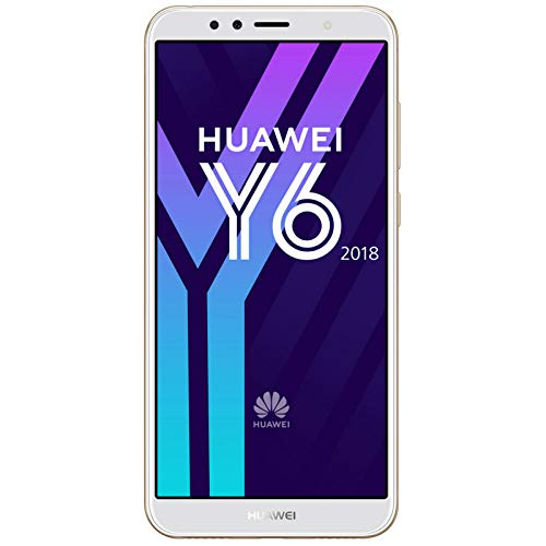 "Huawei Y6 2018 - Smartphone DE 5.7"" (Memoria de 16 GB, cámara de 13 MP, Android 8.0), Color Oro (Gold)"