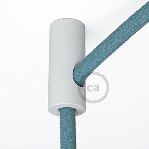 creative-cables dcs01bia decentratore, Haken A Decke für Kabel Elektro Textil mit Stopper, Weiß