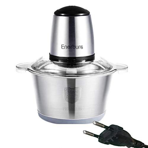 uswine Tritacarne Elettrico in Acciaio Inox Grande Potenza 2L Robot da Cucina, frullatori e...