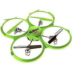 UDI 818A HD + RC Quadcopter Drone con cámara HD, función de regreso a casa y modo sin cabeza 2,4 GHz 4 CH 6 Eje Gyro RTF - Incluye BONUS BATERÍA Dobles Tiempo de vuelo