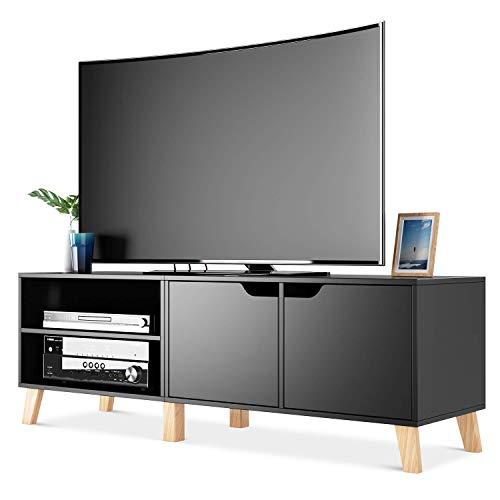 Homfa Mobile Porta TV in Legno Armadio Moderno con 2 Ripiani e 2 Ante Supporto TV con 6 Gambe 140 x...