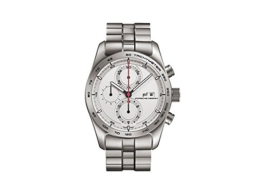 Porsche Design Chronotimer Series 1 Automatik Uhr, Titan, Titan, Weiss