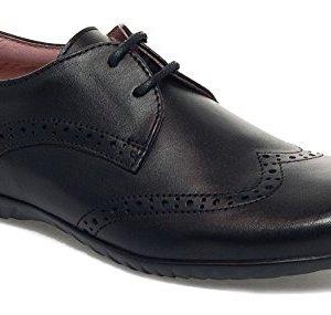 Petasil Girls Emma 5650 Lace School Shoes Black 41zVKVis6TL