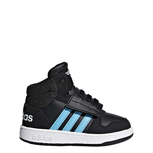 adidas Hoops Mid 2.0, Scarpe da Ginnastica Basse Unisex-Bimbi, Nero Cblack/Brcyan/Ftwwht, 23 EU