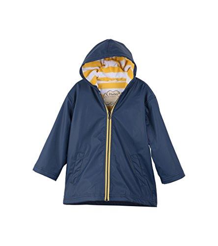 Hatley Splash Jackets Giacca Impermeabile, Blue (Navy/Yellow), 10 Anni Bambino