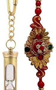 Artshai Brass Hourglass Keychain+ 1 Designer Rakhi 17  Artshai Brass Hourglass Keychain+ 1 Designer Rakhi 41zXwCQv1DL