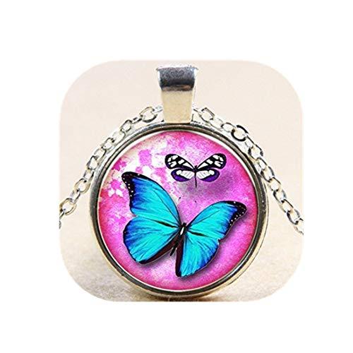 Charm mariposa collar colgante Cristal Art Colgante Mariposa Collar Pendientes Joyería