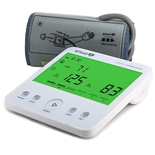 Misuratore di pressione sanguigna, Misuratori digitali automatici per uso domestico, Ampio display...