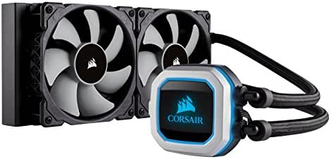 CORSAIR Hydro Series H100i PRO RGB CPU-Flüssigkeitskühlung (240-mm-Radiator, zwei ML Series 120-mm-PWM-Lüfter, RGB-Beleuchtung und Lüfter, Intel 115x/2066 und AMD AM4 kompatibel)