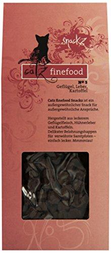 katzeninfo24.de Catz finefood Snackz No.5 Geflügel, Leber und Kartoffel, 4er Pack (4 x 75 g)