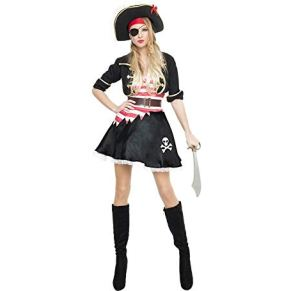 Car&Gus Disfraz de Pirata Casaca Negra para Mujer