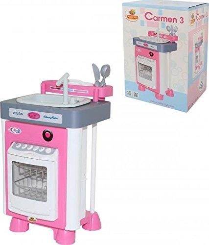 Polesie POLESIE57914Carmen lavello da Cucina con lavastoviglie e Giocattolo
