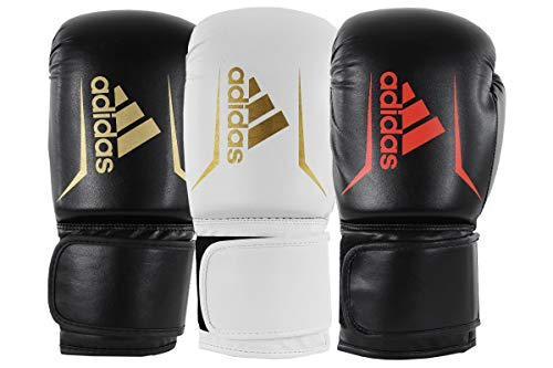 adidas Speed 50, Guanti da Boxe Unisex, White/Gold, 8 oz