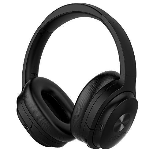 COWIN SE7 Auriculares inalámbricos Bluetooth con micrófono Hi-Fi de graves profundos, (Hi-Res Audio, cancelación de ruido, Bluetooth,30 horas de autonomía) - Negro