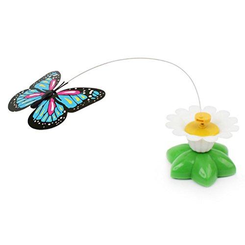 UEETEK Giocattolo interattivo del giocattolo del gatto giocattolo a farfalla colorato elettrico per...