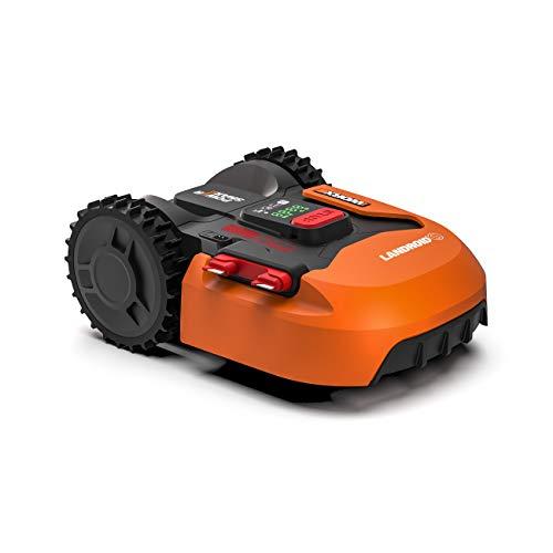 Worx Tagliaerba Robot da Giardino Landroid WR130E, Rasaerba Elettrico a Batteria 20 V, Tosaerba 3 Lame Mobili, Senza Fili