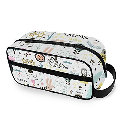 Beauty case da viaggio con graziosi animali leopardati, trousse da trucco, borsa multifunzione, in...