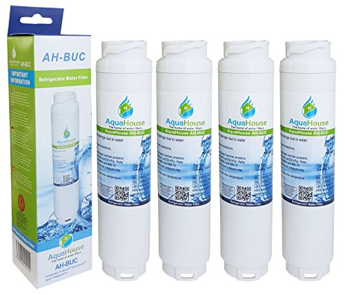 4x AquaHouse filtro per l'acqua compatibile per Bosch Ultra Clarity 644845, Neff, Siemens, Miele...