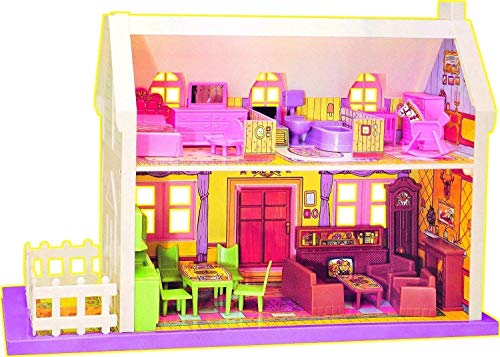 BabbarSher Crafts Deluxe My Little Doll House Playset- Set of 34 Pieces (Multicolor)