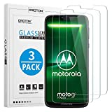 OMOTON [3 Pack Compatible with Moto G7 Power Screen Protector Tempered Glass with [2.5D Round Edge] [9H Hardness] [Crystal Clarity] [Scratch-Resistant] [No-Bubble]