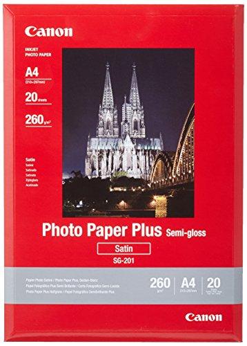 Canon SG-201 Fotopapier Plus Seidenglanz, matt (260 g/qm), A4, 20 Blatt