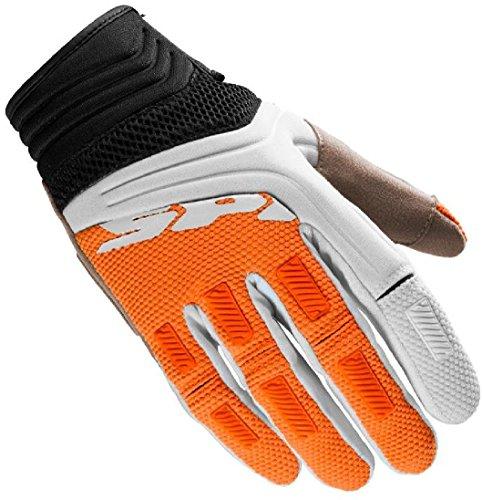 SPIDI Guanto per l'estate, morbido, ideale per cross, enduro, Mega-x, XL, colore nero, arancio