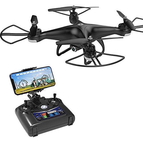 Holy Stone HS110D FPV RC Drohne mit 720p HD Kamera live übertragung,WiFi Camera,RC Quadrocopter ferngesteuert mit Höhenhaltung,Handysteuerung,modulere extra Batterie,Kopflos Modus für Kinder Anfänger