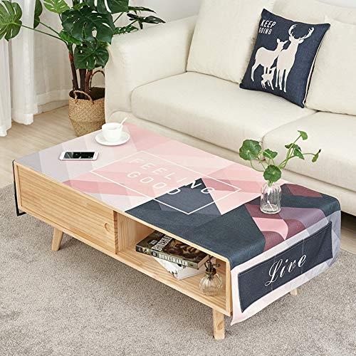 YQ WHJB Nordico Stampa Tovaglia da tavola,Lino di Cotone Rettangolo Tovaglie,Mobile TV Scrivania...