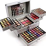 PhantomSky 132 Colores Cosmético Maquillaje Profesional Paleta de Sombra de Ojos con Ceja Polvos...